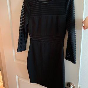Lulu's Black Sheer Mini Dress